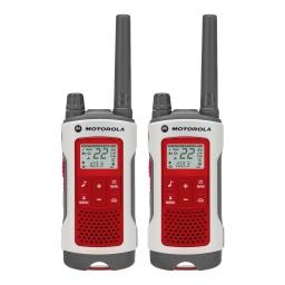 Handy Walkie Talkie Motorola TalkAbout T482 2 Vías 56 Km Resistente lluvia nieve y otras Recargable Botón Emergencia
