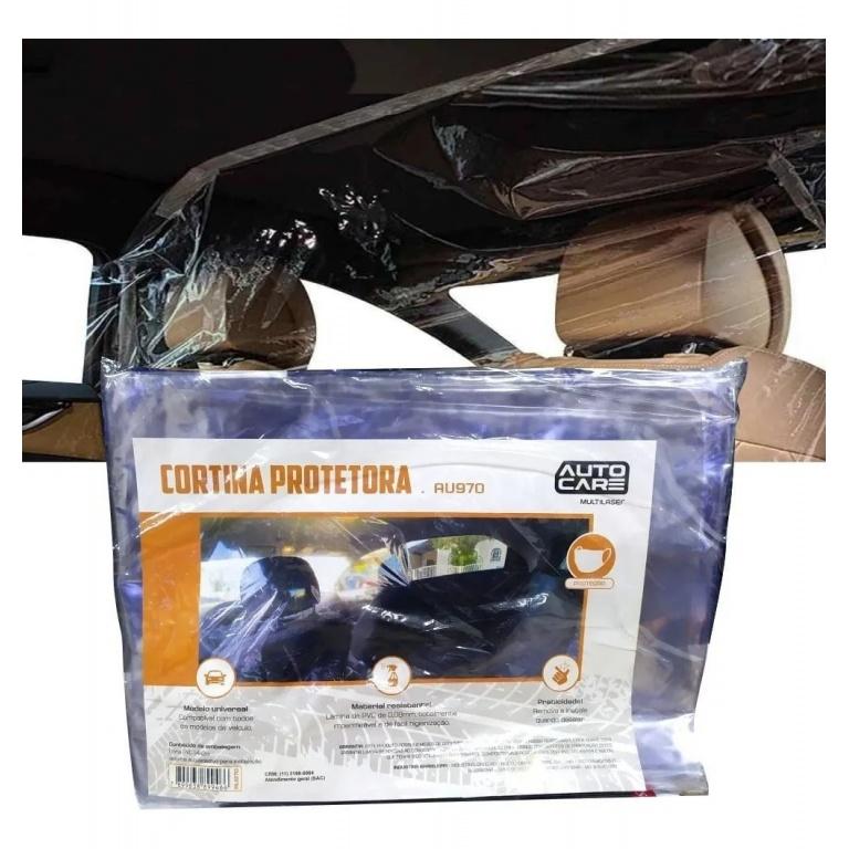 Cortina Mampara Sanitaria Protectora para Autos de PVC Transparente Habitaculo