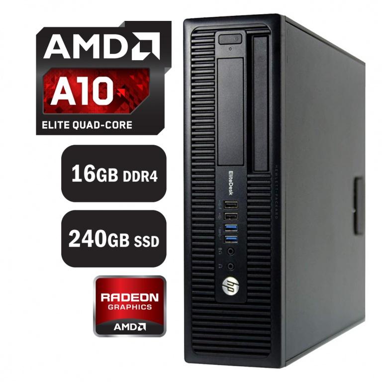PC Computadora HP Elitedesk 705 7th Gen A10-8770 APU 16GB DDR4 240GB SSD Windows 10 Pro