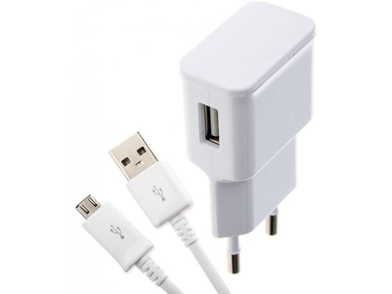Adaptador Cargador de Pared USB 1.0A + Cable micro USB Para Celulares y Más