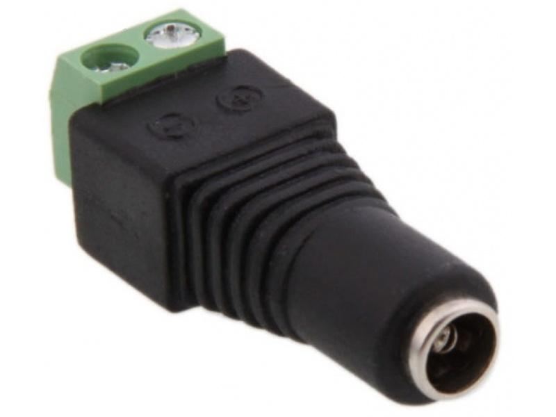 Conector 12v 2.1mm dc hembra para CCTV Camaras de Vigilancia