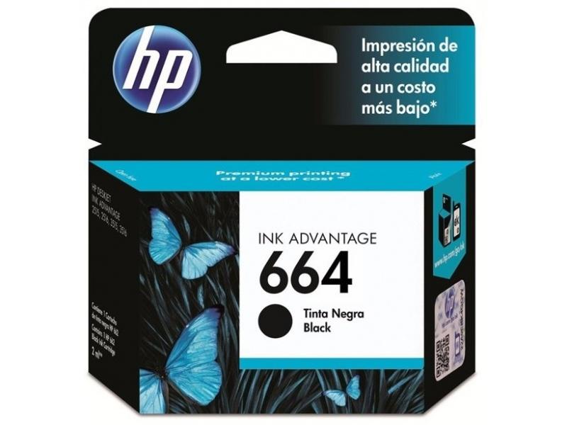 Cartucho Original HP 664 Negro Para Deskjet 2135 2675 3635 4535 3775 3785