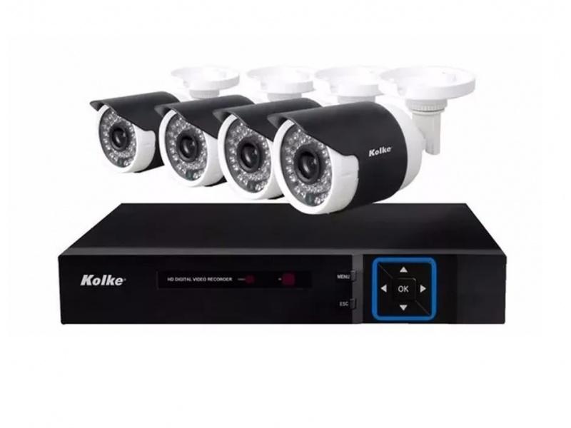 Kit Camaras de Vigilancia DVR Kolke KUK-013 4 Camaras 8 Canales HD Vision Nocturna