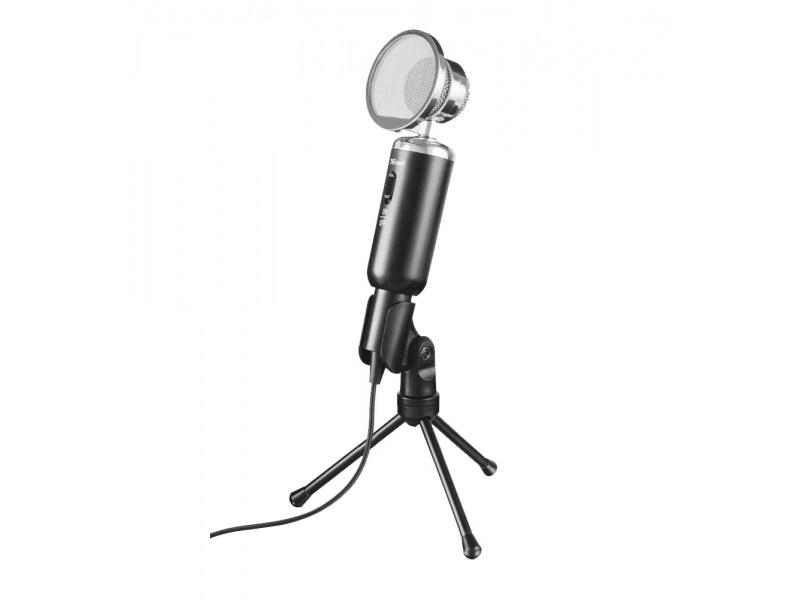 Microfono Condensador Trust Madell con Filtro de rejilla y Tripode