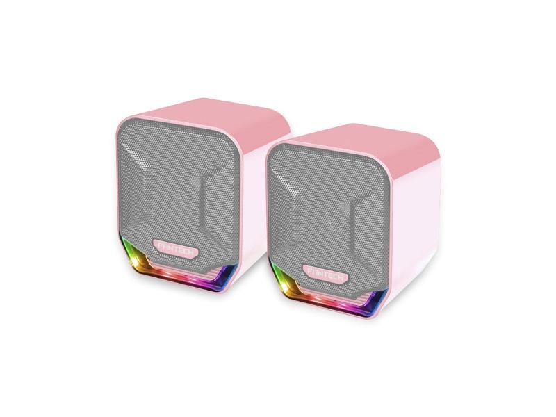 Parlante Gamer Fantech Sakura GS202 2.0 Chroma RGB USB/mini jack 3.5mm Rosado