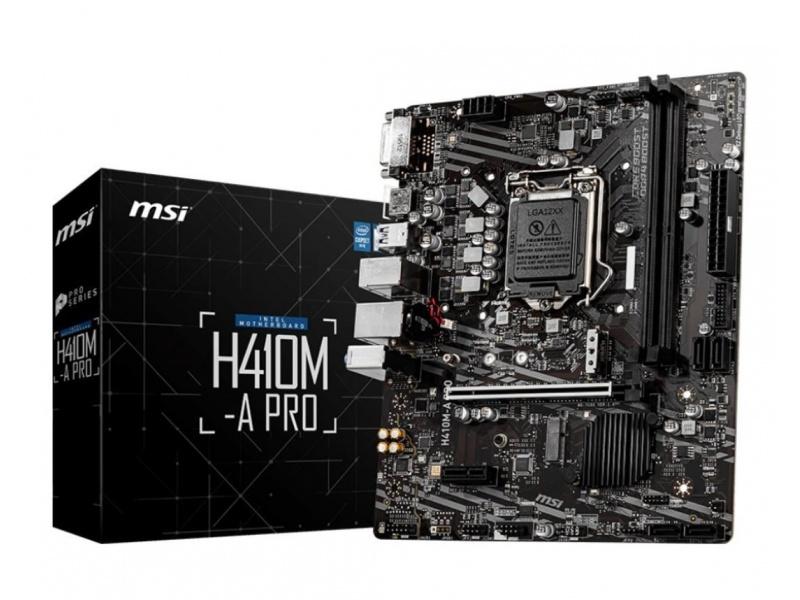 Motherboard MSI H410M-A PRO (LGA 1200) 10ma Generación Intel DDR4