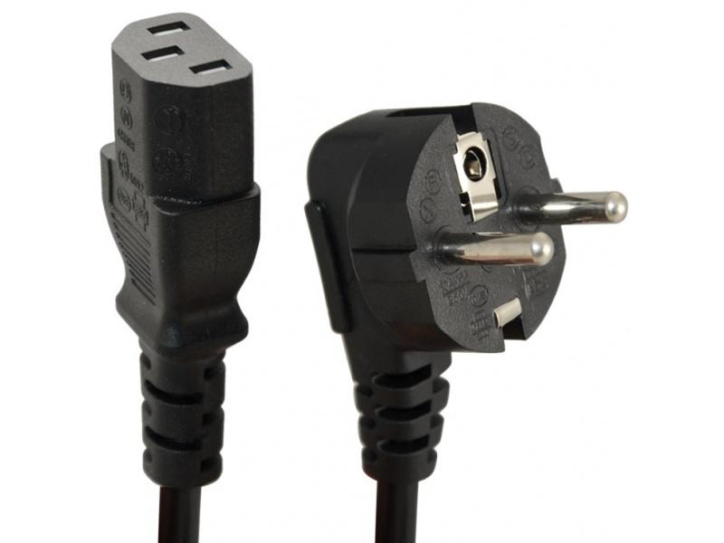 Cable de Corriente Schuko 1 Metro para PC y Monitores