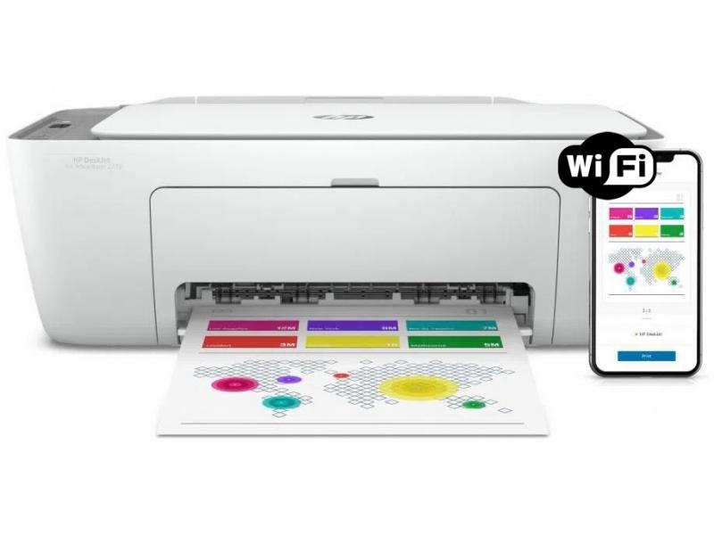 Impresora Multifuncion HP Deskjet 2775 Wifi + Cartuchos