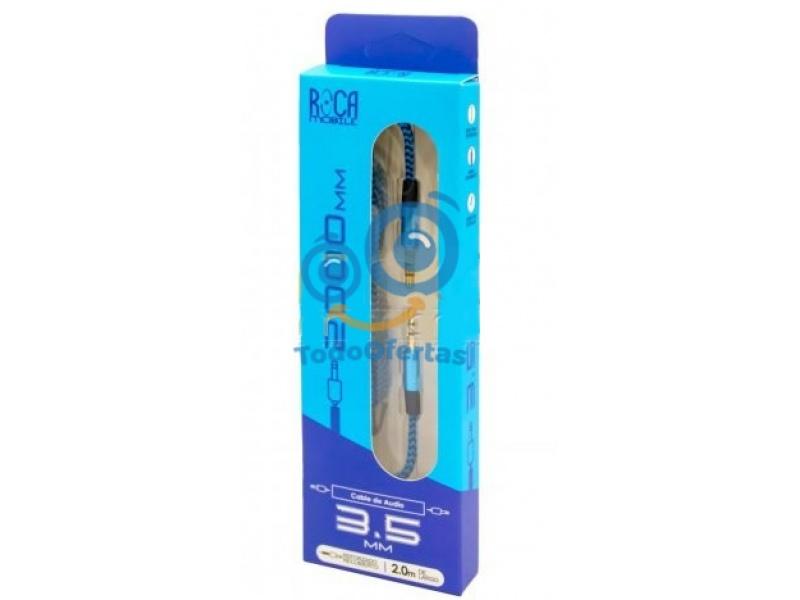 Cable de Audio Auxiliar ROCA 3.5mm a 3.5mm (2 Metros)