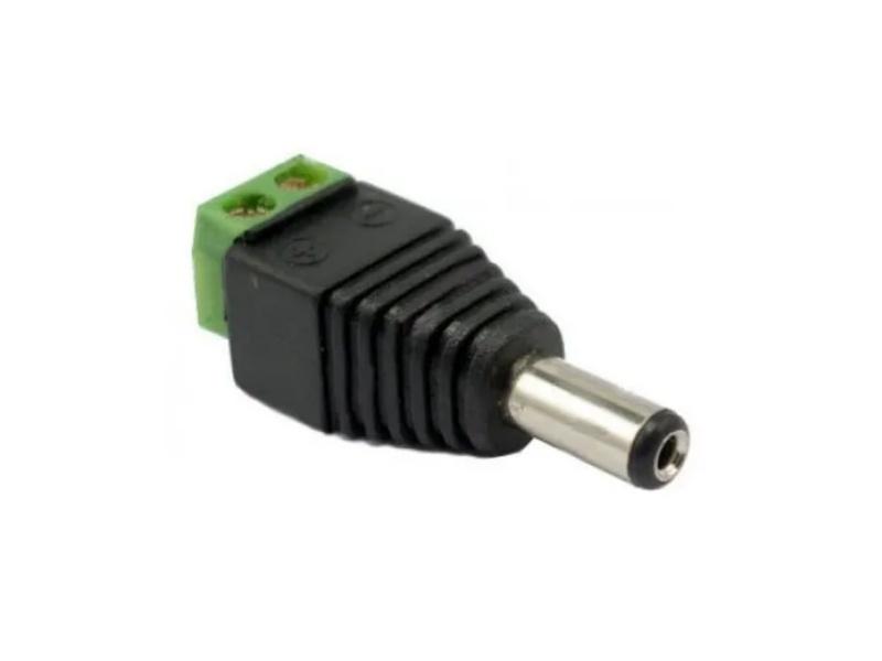 Conector 12v 2.1mm dc macho para CCTV Camaras Vigilancia