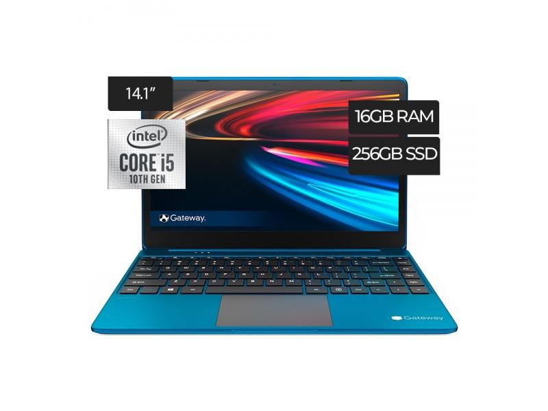 Notebook Gateway GWTN141 Core i5-1035G1 16GB 256GB SSD Pantalla Full HD 14'' Webcam Bluetooth Windows 10 - Azul