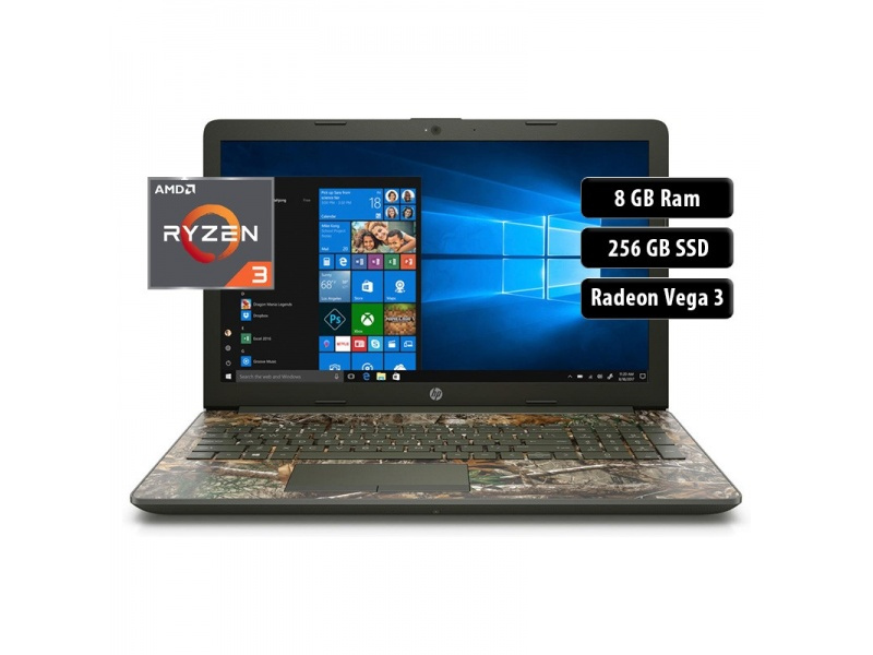"Notebook HP 15-DB1047 AMD Ryzen 3 3200U 8GB 256 SSD 15.6"" Windows 10 Diseño Exclusivo"