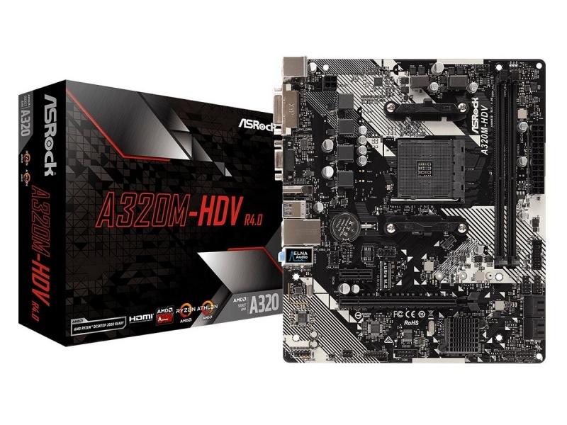 Motherboard ASRock A320m-hdv Am4 R4.0 AMD Socket AM4 A-Series Ryzen