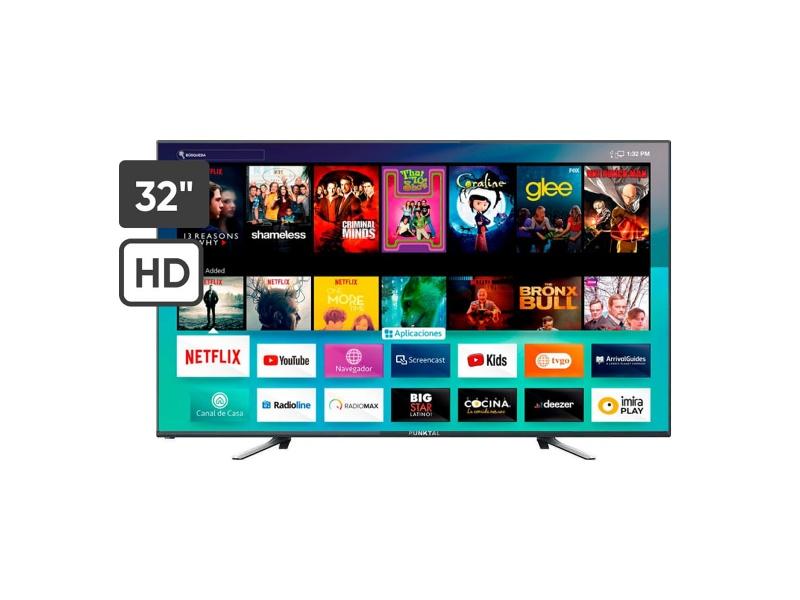 Smart TV Punktal PK-32KDL 32'' WiFi Procesador Quad Core, Sintonizador Digital, Navegador, Aplicaciones y Mas