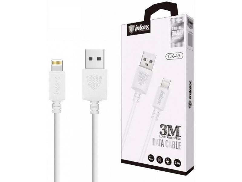 Cable INKAX CK-49 Para iPhone 2.1A USB Lightning 3 Metros